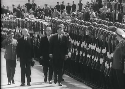 John F. Kennedy Ankunft Flughafen Köln-Bonn 1963